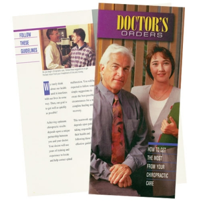"Brochure ""Doctor's orders"""